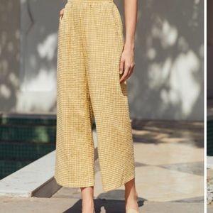 Yellow gingham pants